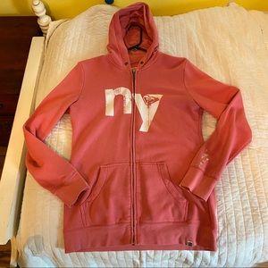 Roxy zip up large NYC New York City hoodie